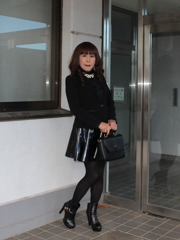 光沢フレアースカートA(1)