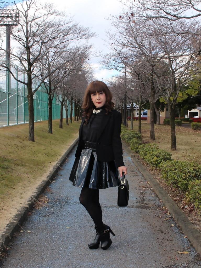 光沢フレアースカートA(5)