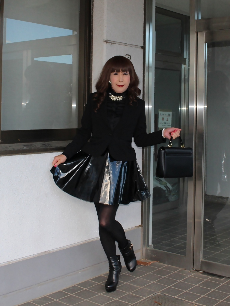 光沢フレアースカートA(2)