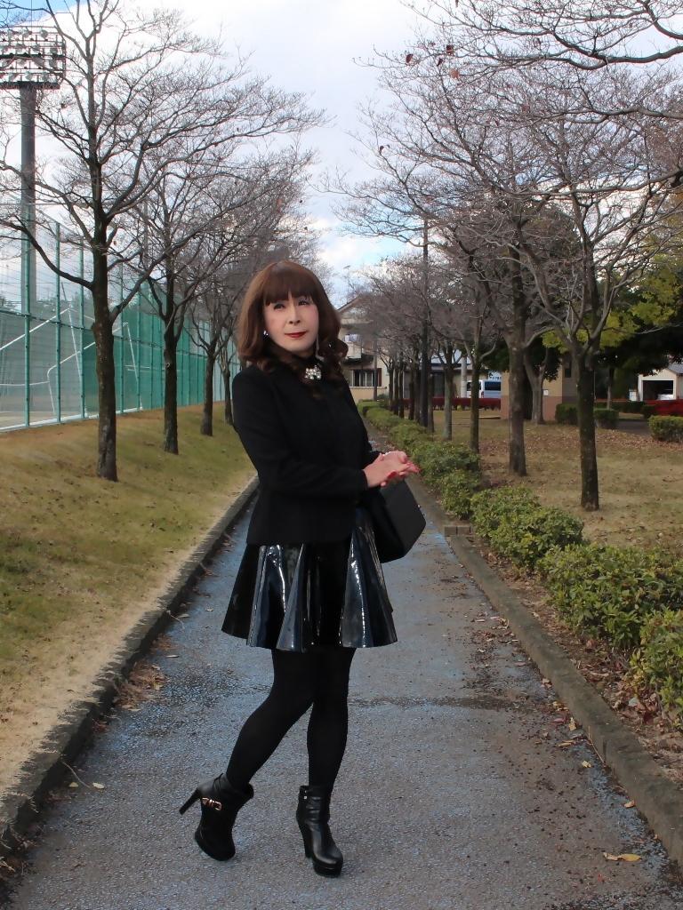 光沢フレアースカートA(4)