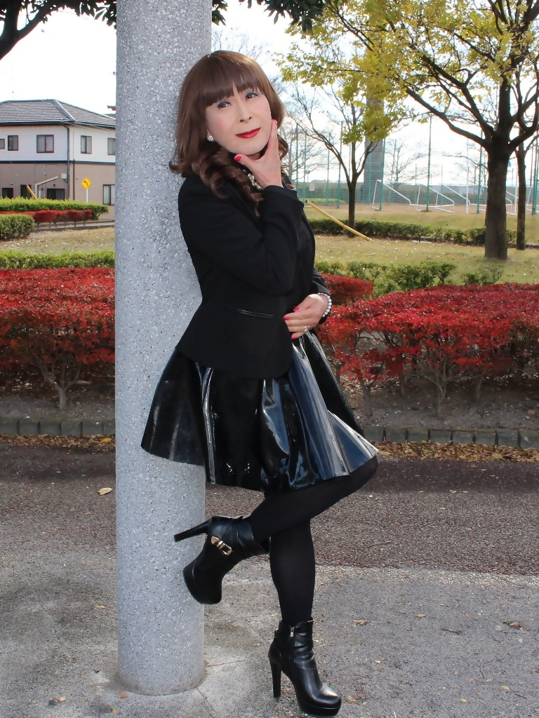 光沢フレアースカートB(5)