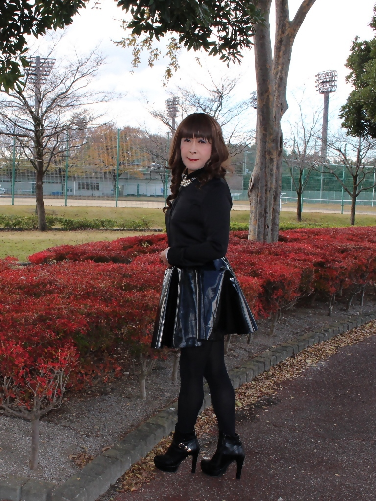 光沢フレアースカートD(4)