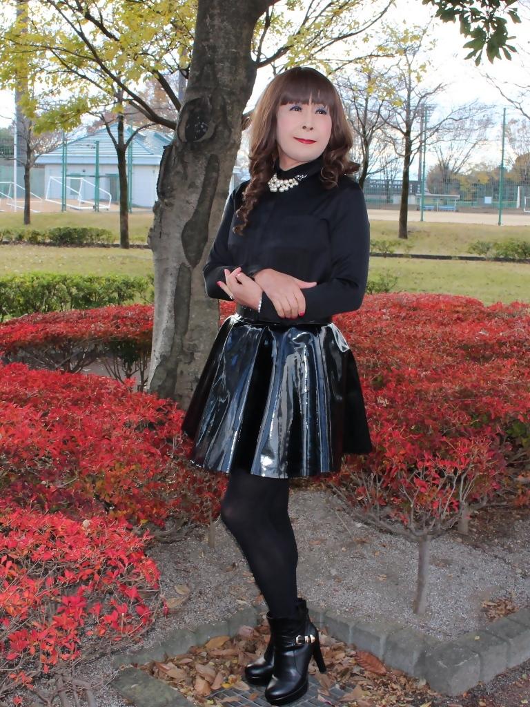 光沢フレアースカートD(3)