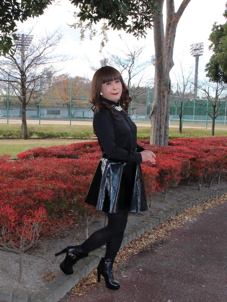 光沢フレアースカートD(6)