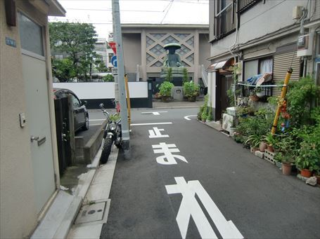 東禅寺の参道があった場所