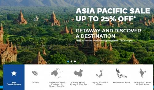 ヒルトンオーナーズ アジア太平洋地域を対象に25%OFFセール