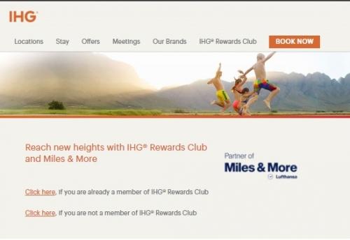 IHGリワードクラブ Miles&More会員にボーナスマイルキャンペーン