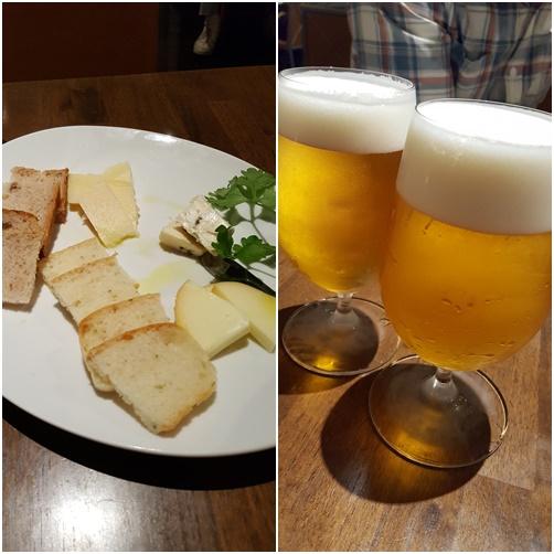 ビールにチーズ