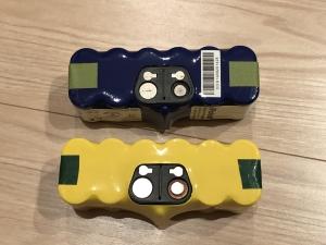 ルンバの正規バッテリーと互換品の比較