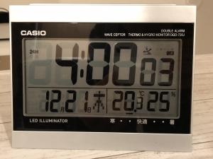外気温-15℃朝4時の室温