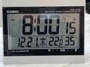 外気温-15℃朝8時の室温