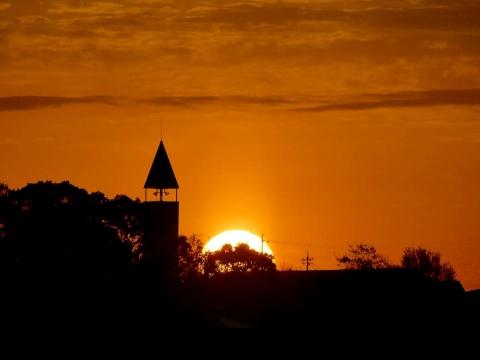 20171216ランドルフ鐘塔の日の出