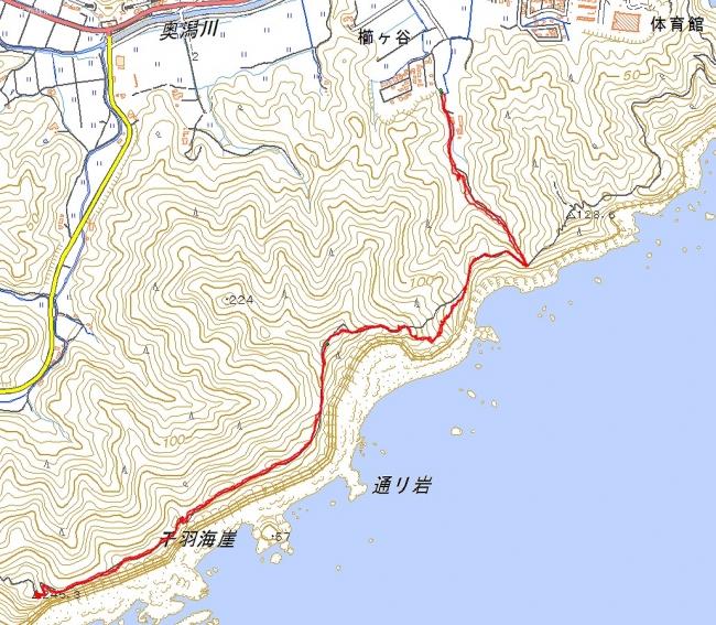 s-千羽海崖トレース