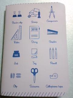 2018 手帳のオリジナル表紙