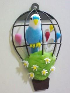 気球とインコのマグネット