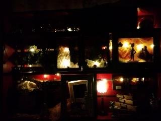 ライトアップ 井蛙博物館第二展示室