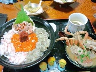 親ガニ丼 天ぷらカニ汁付き あんべ