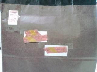 謎のチョコレート色の紙袋!
