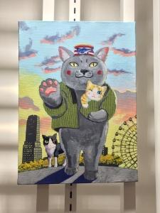 「夜廻り猫」のクリスマス 深谷かほる作品展-12