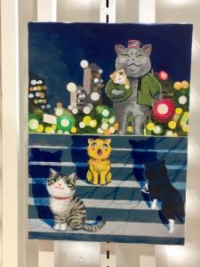 「夜廻り猫」のクリスマス 深谷かほる作品展-11