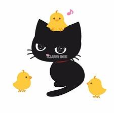 黒猫とヒヨコ