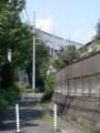 新井宿232-2 西新井宿交差点・首都高赤山方向側道から交差点越え川口ジャンクション方面を見る d
