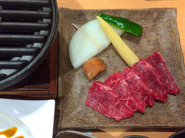 夕食_飛騨牛網焼き