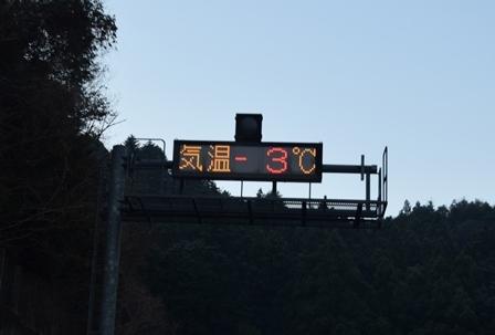 気温ー3℃