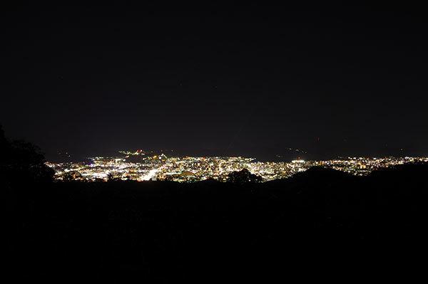 小坂峠から高知市の夜景