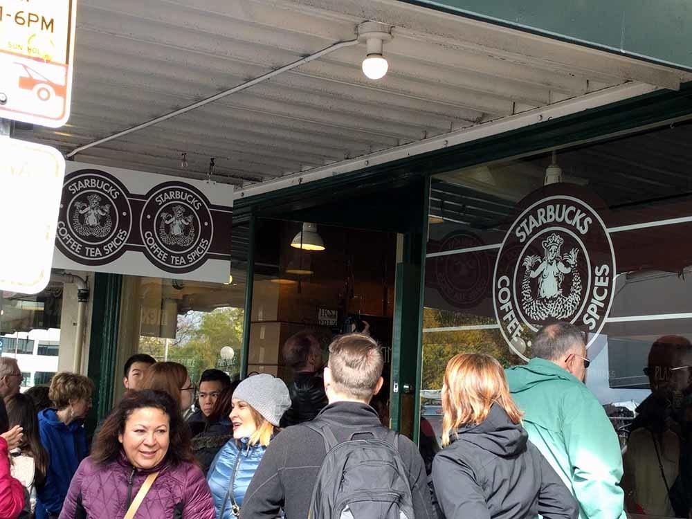 Seattle Pike Place starbucks first shop シアトルパイクプレーススターバックス1号店