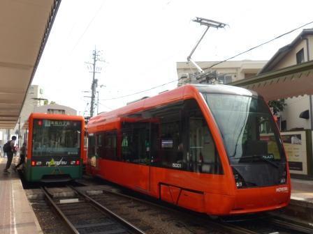 伊予鉄道・市内電車 5000形 & 2100形