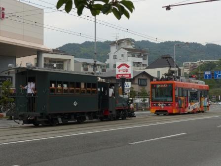 伊予鉄道・市内電車 2100形 & 坊っちゃん列車