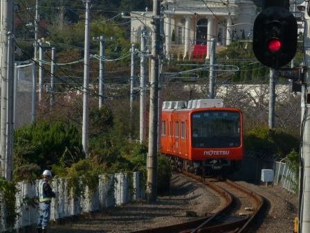 梅津寺駅 郊外電車
