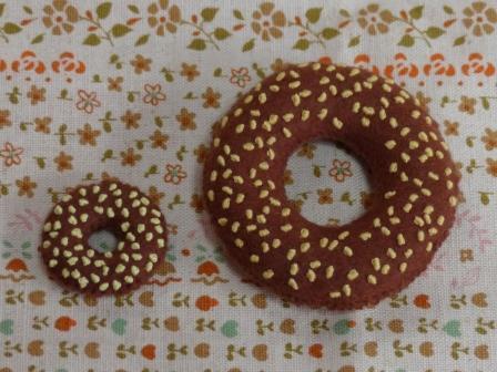 フェルト・ドーナツ ドーナツ & ミニドーナツ チョコラナッツ