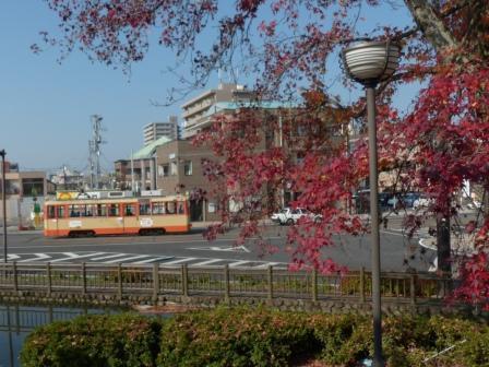 紅葉と市内電車 1