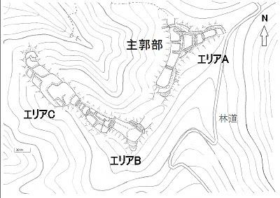 佐開城跡遺構模式図2