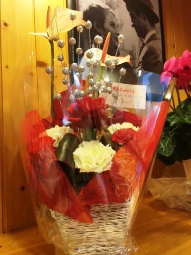 7周年お祝いのお花