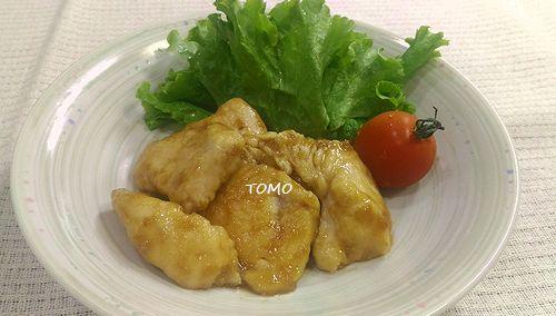 鶏胸肉のしょうが焼き風