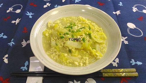 白菜と鶏ひき肉のカレー煮