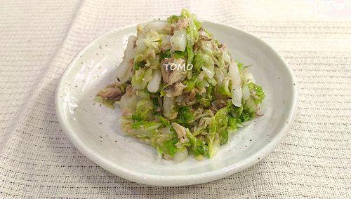 白菜とサバ水煮缶のサラダ