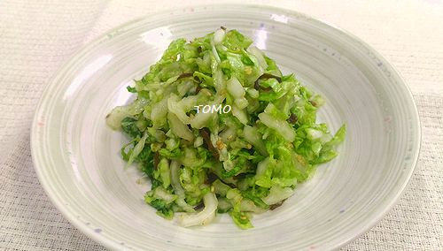 白菜と塩コンブのナムル