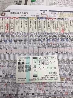 12月3日中山8R
