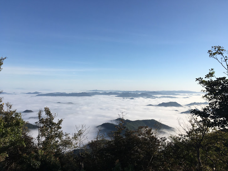 2017三嶽/山頂の雲海南側