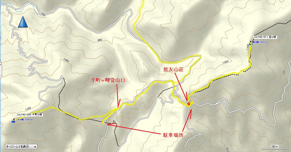 2017千町ヶ峰/地図