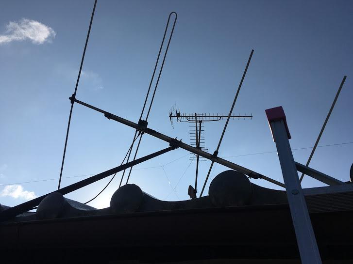 ラジオアンテナ/倒れたアンテナ