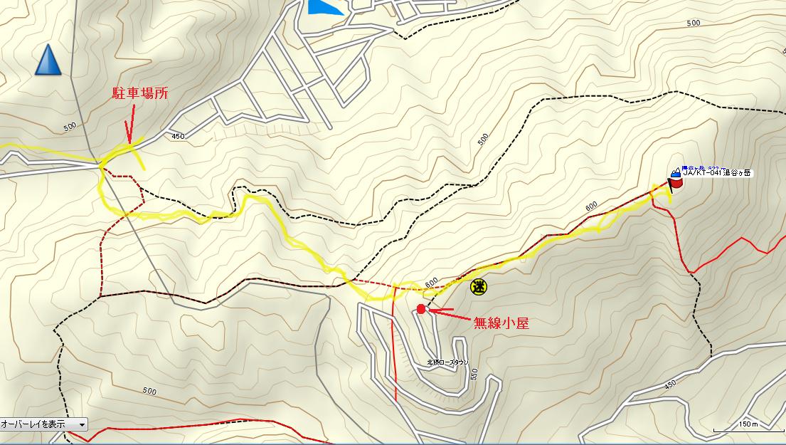 2017湯谷ヶ岳/地図