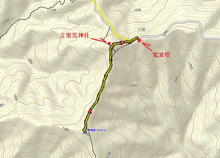 2017荒神岳/地図
