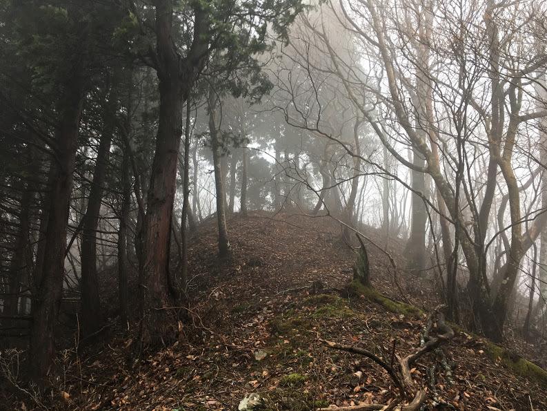 2017荒神岳/山頂を見上げる