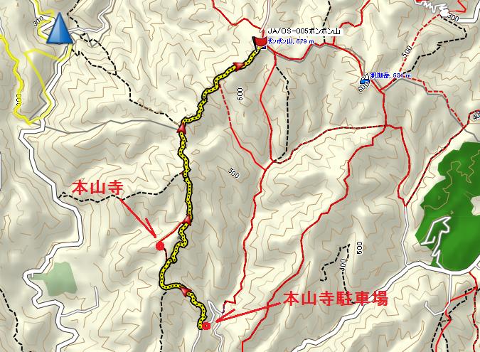 2017ポンポン山/地図
