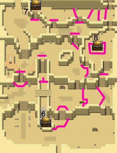 熱砂の山道マップ1